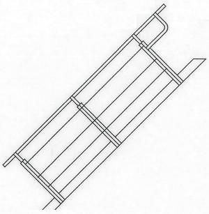 3-Gurt-Geländer