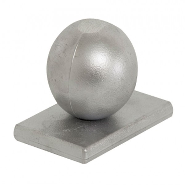 Alu-Abdeckkappe mit Kugel für Mod. U & Objekt - Farbe: alu natur