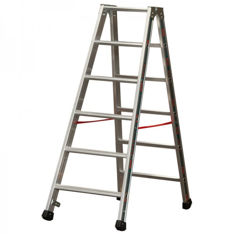 Alu-Stufen Stehleiter Mod. S30577 - Stufenanzahl: 2 x 6, Länge: 1,50 m