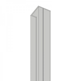 Alu U-Profil stirnseitige Montage für 44 mm Profile