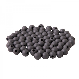 Zierkugeln Kunststoff - 100 Stück, Farbe: anthrazit