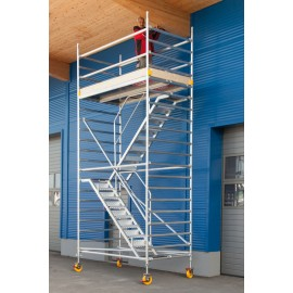 Alu Fahrgerüst Mod. F (Treppenturm) - Breite: 1,30 m, Länge: 2,50 m