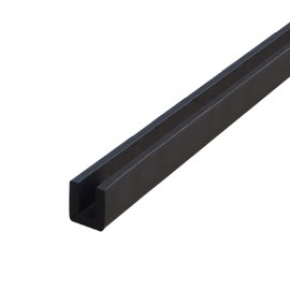 U-Gummidichtung für Glasbefestigung - Länge: 30 cm