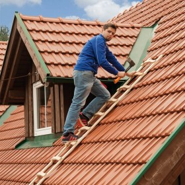 Holz Dachleiter