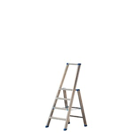Alu-Stufen Stehleiter Mod. PL - Stufenanzahl: 4, Gesamthöhe mit Bügel: 1,50 m