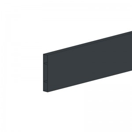 Alu Querlatte 20 x 120 mm - Farbe: anthrazit, Länge: 250 cm, Höhe: 12 cm