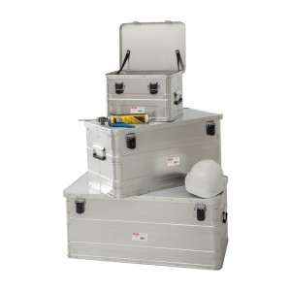 Alu Transportbehälter Mod. BJ - Heimwerkerausführung  - Außenmaß LxBxH: 900 x 490 x 380 mm, Rauminhalt: 140 l