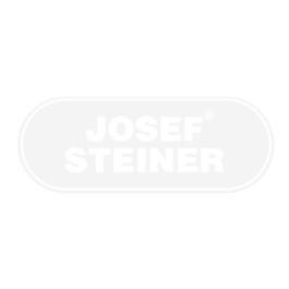Geländerpfosten, Endpfosten für Bodenbefestigung mit Rosette, 6 Seilspanner