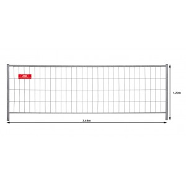 Mobilzaun / Bauzaun MZ-120  -   Breite: 3,50 m / Höhe: 1,20 m